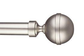 Užbaigimas karnizui STOL-KAR Kula Elegant 1 vnt. skersmuo 25 mm, metalinis, matinio chromo spalvos