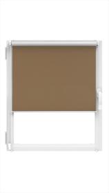"""Ritininė užuolaida MARDOM Silver, 114 x 150 cm, """"CLICK"""" sistema, šokolado spalvos, Lenkija"""