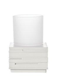 Stiklinė RIDDER BRICK, pastatoma, balta, 22150101