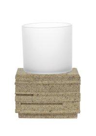 "Stiklinė RIDDER BRICK, pastatoma, ""ecru"" spalvos, 22150111"