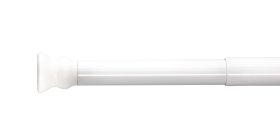 Vonios karnizas RIDDER WIEN 55201, 110-185 cm, skersmuo 25 mm, baltas