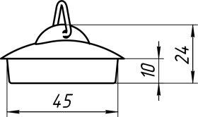 Vonios kamštis ANI M300 60 x 30 x 0,3 cm