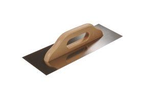 Nerūdijančio plieno lygi trintuvė su medine rankena PAINTER PAC0721 130 x 380 mm.