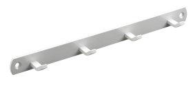 Kabykla HETTICH, 4 kabliukai baltos sp. 270x20x30mm, 4406