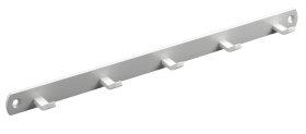 Kabykla HETTICH, 5 kabliukai baltos sp. 340x20x30mm, 4407