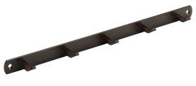 Kabykla HETTICH, 5 kabliukai rudos sp. 340x20x30mm, 4422
