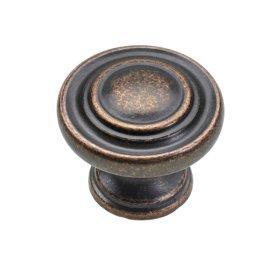Baldų rankenėlė antik, rutulio formos HETTICH, vario sp. D25, 9202464
