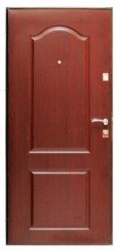 Plieninės durys HELOST LUNNA Matmenys 860x2050x65 mm, spalva: rudos-miltelinis dažymas, kairinės