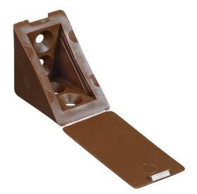 Tvirtinimo kampukas plast. HETTICH, pak. 4 vnt. 31x31x24mm, rudos sp., 9213863
