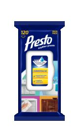 Drėgnos servetėlės PRESTO Maxi Pack 120 vnt.
