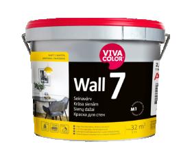 Vandeniniai vidaus dažai VIVACOLOR WALL 7, 2,7 l, A bazė, balti, matiniai