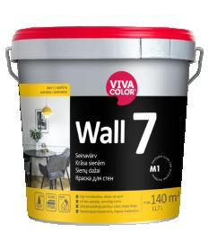 Vandeniniai vidaus dažai VIVACOLOR WALL 7, 11,7 l, A bazė, balti, matiniai