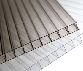 Polikarbonato plokštė    SUNNEX dvisienė, kamerinė Matmenys 6 x 2100 x 2900 mm, skaidri