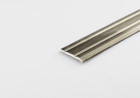 Aliumininė grindų juostelė ARCANSAS 046M1/96, 1800 x 25 mm, anoduota, titano spalvos, šlifuotas
