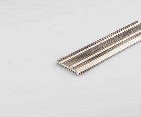 Aliumininė grindų juostelė ARCANSAS 046M1/99S, 1800 x 25 mm, anoduota, vario spalvos, šlifuotas