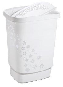 Skalbinių dėžė ROTHO FLOWERS, 56 l., balta, N