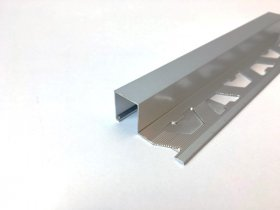 Kampas plytelėms ARCANSAS 043/S/90, 2500 x 27 x 12,5 mm, aliuminis anoduotas, išorinis, kvadratinis, sidabro spalvos, satinas