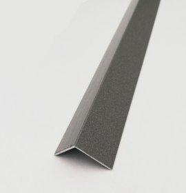 Kampas plytelėms ARCANSAS 851D/105, 2600 x 15 x 15, aliuminis, akmens imitacija, antracito spalvos