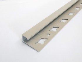 Kampas plytelėms ARCANSAS 041/101, 2500 x 10 mm, aliuminis, išorinis, kvadratinis, akmens imitacija, smėlio spalvos