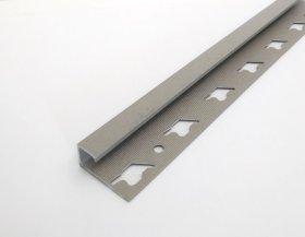 Kampas plytelėms ARCANSAS 041/103, 2500 x 10 mm, aliuminis, išorinis, kvadratinis, akmens imitacija, betono spalvos