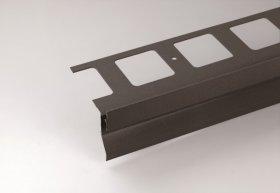 Profilis balkonų ir terasų užbaigimui ARCANSAS 430A/104, 2500 x 95 x 69 mm, aliuminis, akmens imitacija, t.pilkos spalvos