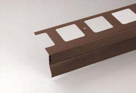 """Profilis balkonų ir terasų užbaigimui ARCANSAS 430A/100, 2500 x 69 mm, aliuminis, akmens imitacija, """"rust"""" spalvos"""