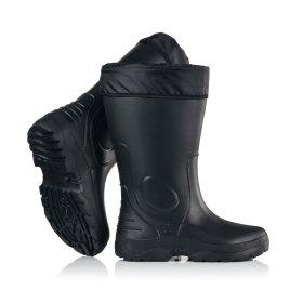 Guminiai pašiltinti batai vyriški EVA1, aukštis 35cm, juodos sp., 45/46 dydis