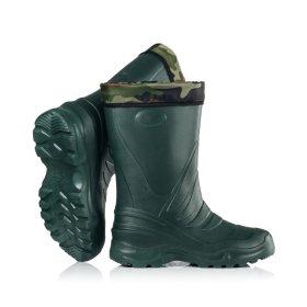 Guminiai pašiltinti batai vyriški EVA2, aukštis 33cm, t. žalios sp., 41/42 dydis