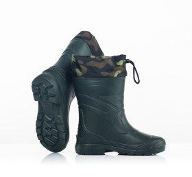 Guminiai pašiltinti batai vyriški EVA3, aukštis 27cm, t. žalios sp., 41/42 dydis
