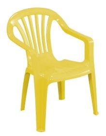 Plastikinė vaikiška kėdutė BABY ALTEA, BAL540GI , geltona, maks. apkrova iki 35kg