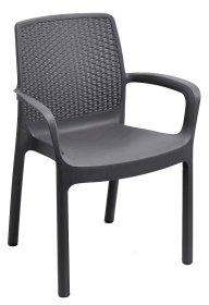 Plastikinė kėdė REGINA, sp. antracitas, maks. apkrova iki 120kg