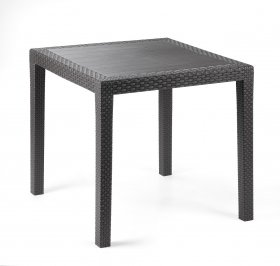 Plastikinis stačiakampis stalas KING, sp. antracitas, maks. apkrova iki 60kg