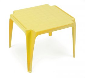 Plastikinis vaikiškas staliukas TAVOLO BABY, TBA200GI, geltonas, maks. apkrova iki 35kg