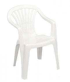 Plastikinė kėdė ALTEA, baltos spalvos, maks. apkrova iki 120kg