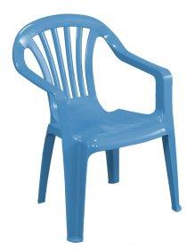 Plastikinė vaikiška kėdutė BABY ALTEA, mėlynos spalvos, maks. apkrova iki 35kg