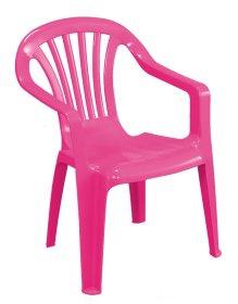 Plastikinė vaikiška kėdutė  BABY ALTEA, rožinės spalvos, maks. apkrova iki 35kg