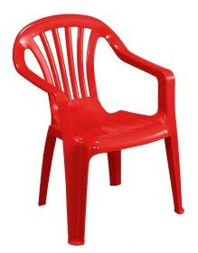 Plastikinė vaikiška kėdutė BABY ALTEA, raudonos spalvos, maks. apkrova iki 35kg