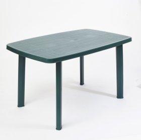 Plastikinis stalas FARO ovalus, žalios spalvos 137x85x72cm, maks. apkrova iki 60kg