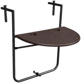 Pakabinamas pusapvalis stalas NOVELLY HOME, išmatavimai: 73*60*4.5 medž. plastikas + plienas,  rudos sp., BY-60R , apkrova iki 15 kg.