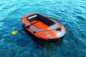 Pripučiamos valties rinkinys BESTWAY HYDRO-FORCE valtis, 2 vnt irklų, kojinė pompa, dydis pripūtus 1,88 m x 98 cm