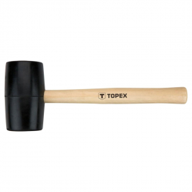 Guminis plaktukas medine rankena TOPEX 02A344 skersmuo 58 mm.