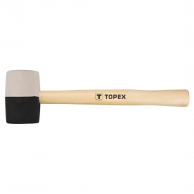 Guminis plaktukas medine rankena TOPEX 02A354 skersmuo 58 mm.