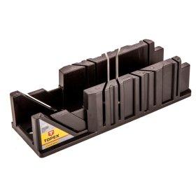 Plastmasinė dėžutė kampui pjauti TOPEX 10A840 212 x 42 x 44 mm.