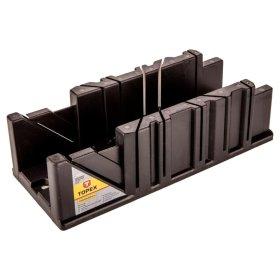 Plastmasinė dėžutė kampui pjauti TOPEX 10A843 250 x 65 x 60 mm.