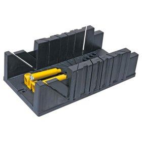 Plastmasinė dėžutė su gnybtais kampui pjauti TOPEX 10A848 320 x 120 x 75 mm.