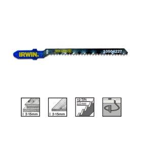 Siaurapjūklio pjūkleliai IRWIN  ilgis 83 mm, dantukų žingsnis 2 mm (medienai, drožlių plokštei nuo 2 iki 15 mm), 5 vnt.