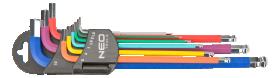 Šešiakampių raktų rinkinys su apvalia galvute NEO 09-512