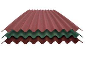 Bituminė danga CORRUBIT  Matmenys 930 x 2000 mm, raudonos spalvos