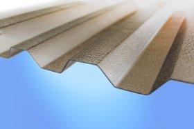 PC profiliuoto monolito polikarbonato lakštai GUTTA Matmenys 0,8 x 1045 x 2000 mm, trapecinė, bronzos spalvos