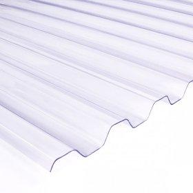 Profiliuota plokštė OMBRE  Matmenys 7 x 900 x 3000 mm, trapecinė, skaidri